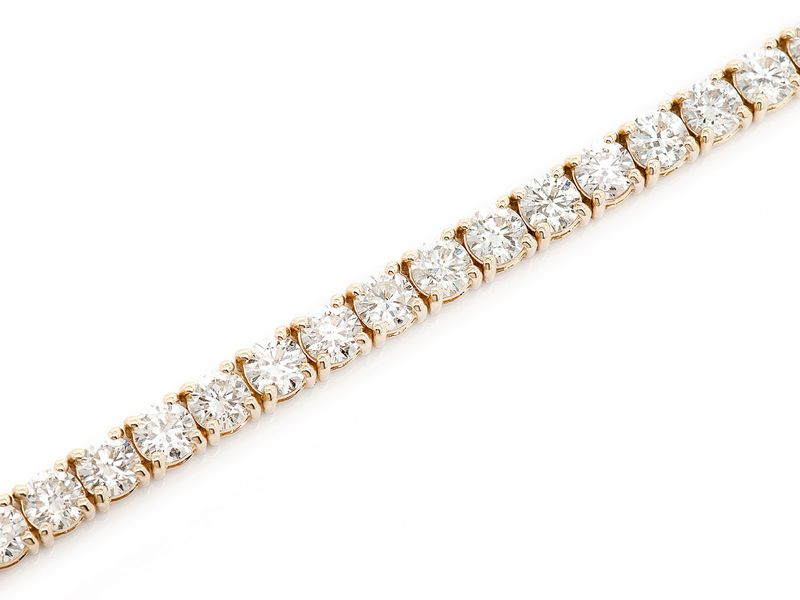 Diamond Bracelet 14K   11.20ctw
