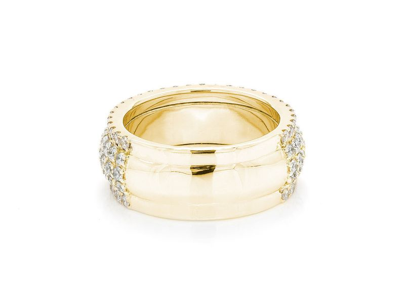 Scallop Band Ring 14K   2.45ctw
