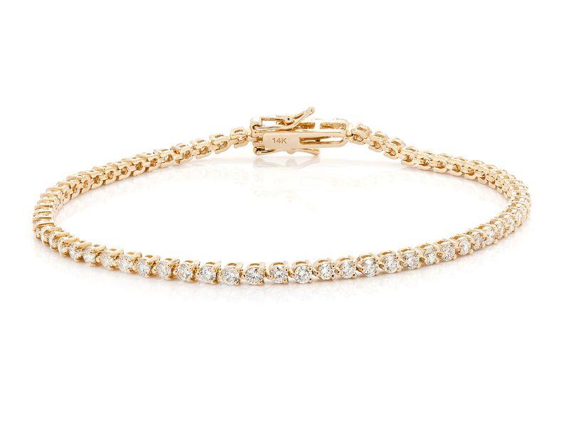 Diamond Bracelet 14K   2.08ctw