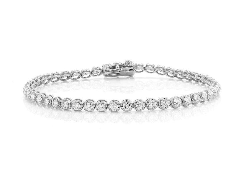 Tennis Bracelet 14K   2.55ctw