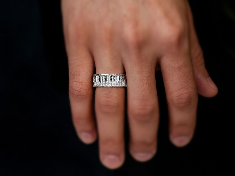 Piano Band Ring 14K   0.90ctw