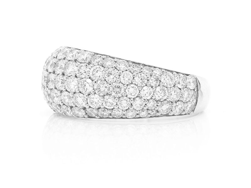 Pave Bubbly Ring 14K   3.15ctw