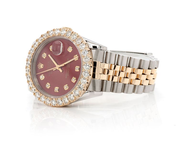 Pre-owned Rolex Datejust 36MM 18K/SS  4.29ctw