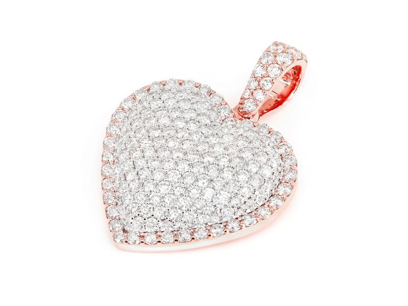 Pax Bubbly Border Heart  Pendant 14K   2.06ctw