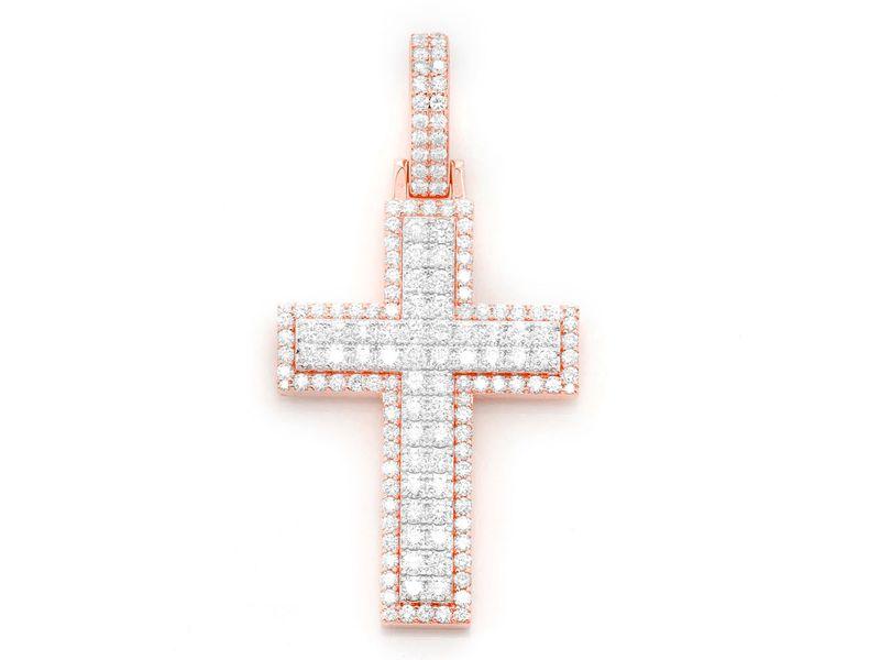 Border Cross Pendant 14K   4.68ctw