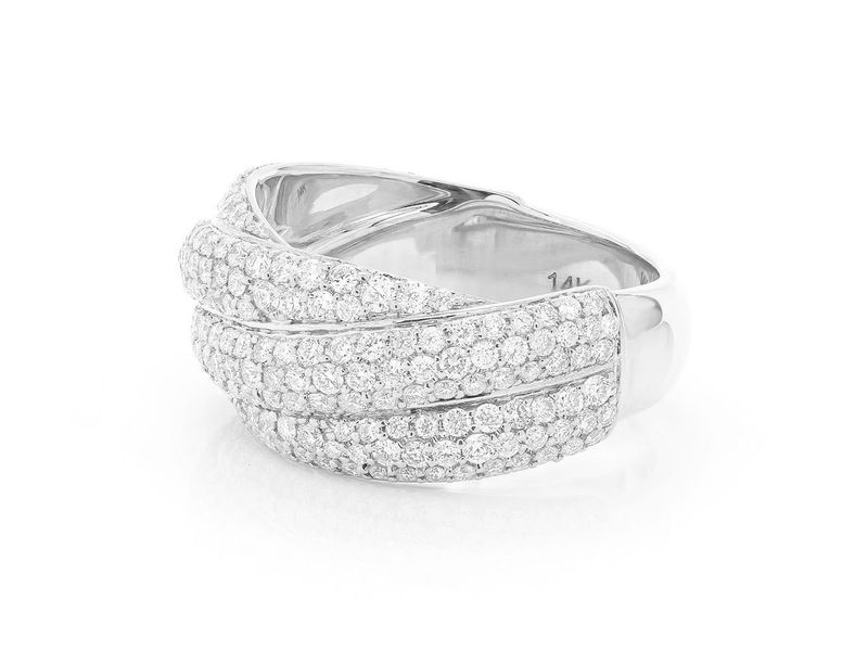 Twisted Pave Band Ring 14K   1.54ctw