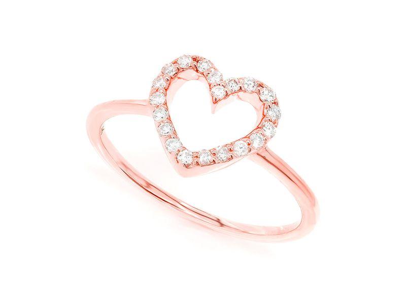 Open Heart Promise Ring 14K   0.16ctw