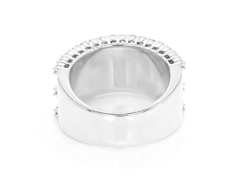3 Row Baguette Ring 14K   3.44ctw