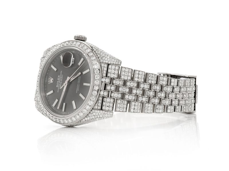 Pre-owned Rolex Datejust 41MM SS  13.68ctw
