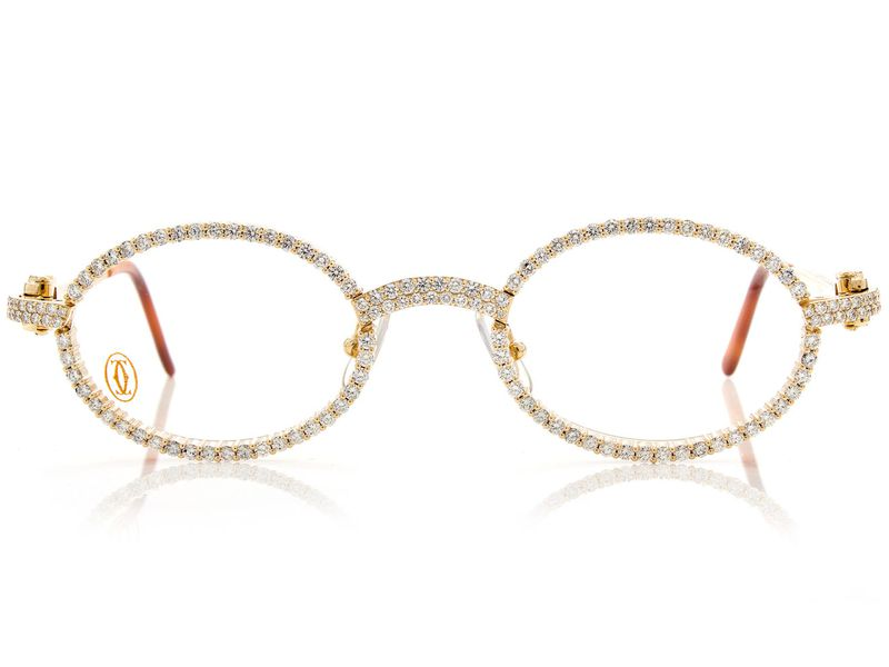 Cartier Iced Out Glasses 14K 9.15ctw