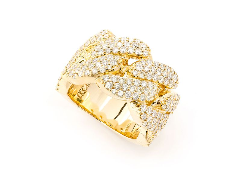 Super Cuban Ring 14K   2.85ctw
