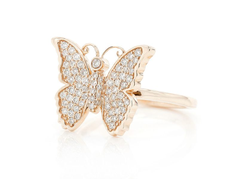 Butterfly Promise Ring 14K   0.40ctw