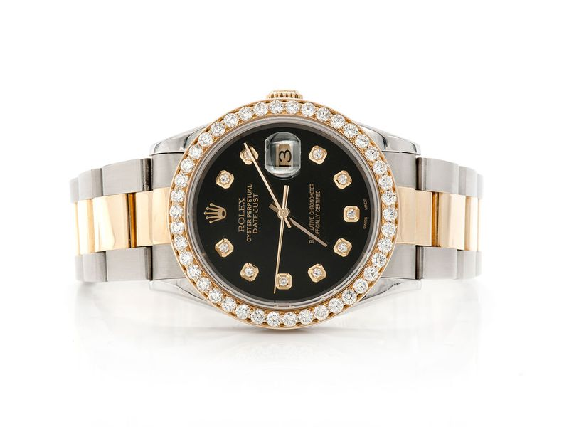 Pre-owned Rolex Datejust 36MM 18K/SS  2.20ctw