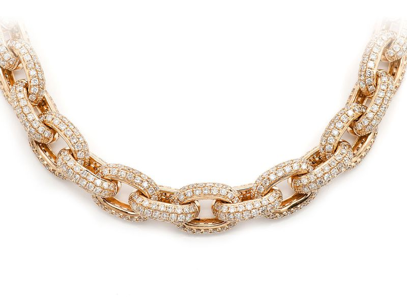 Rolo Link Necklace 14K   38.20ctw