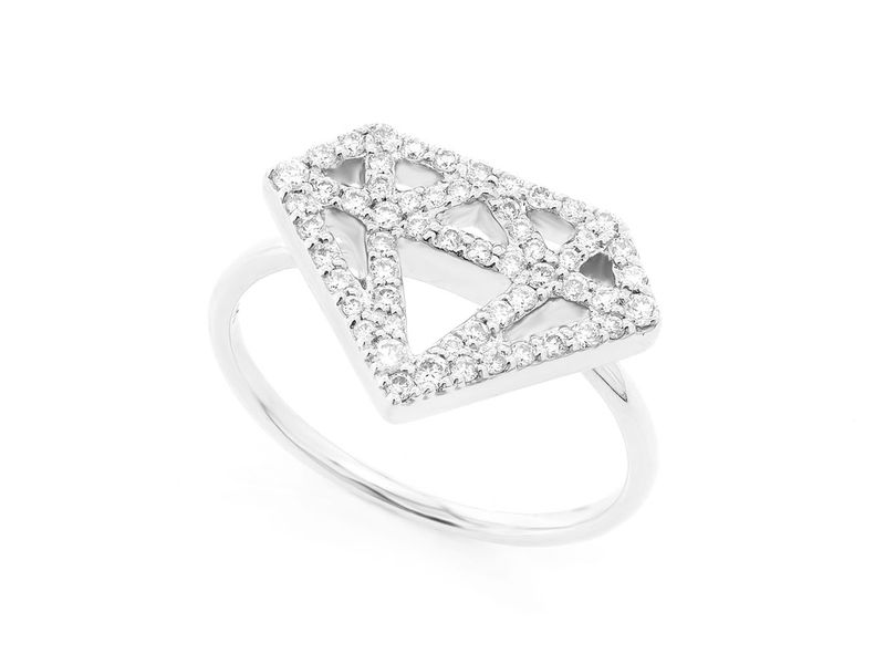 Diamond Silhouette Promise Collection Ring 14K   0.34ctw