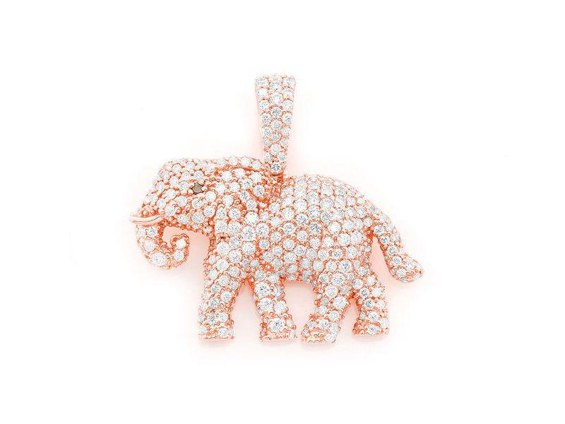 Bellino Elephant Pendant 14K   1.55ctw