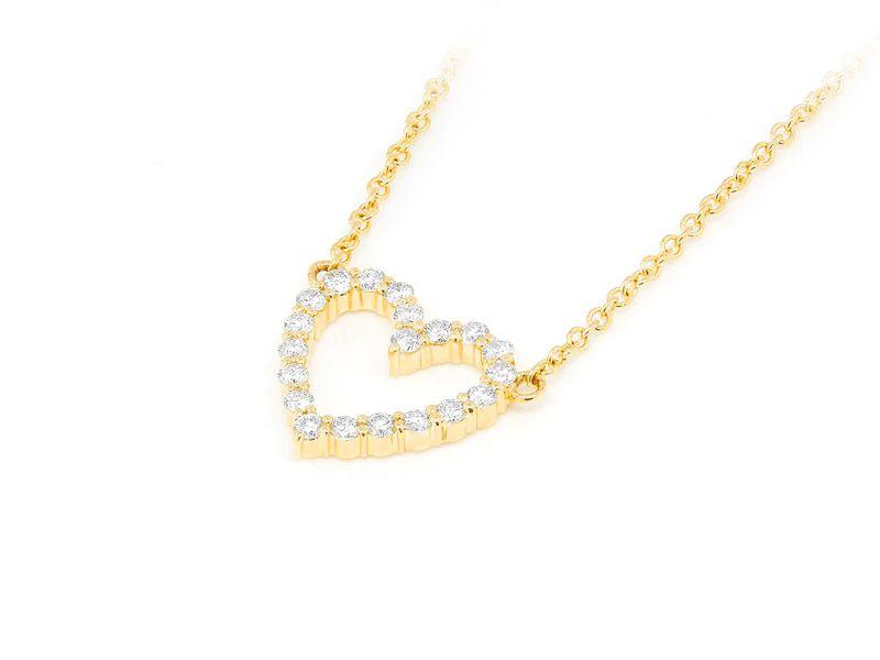 Small Dainty Heart Pendant 14K   0.17ctw