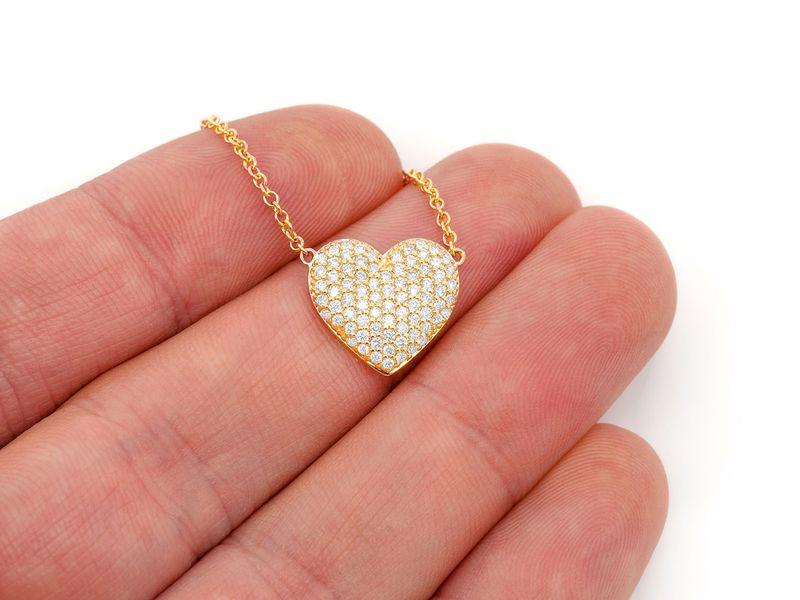 Mini Bubbly Heart Pendant 14K   0.63ctw