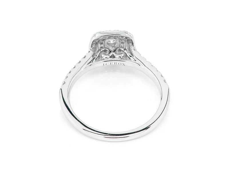 Three Layer Square Engagement Ring 14K   0.50ctw