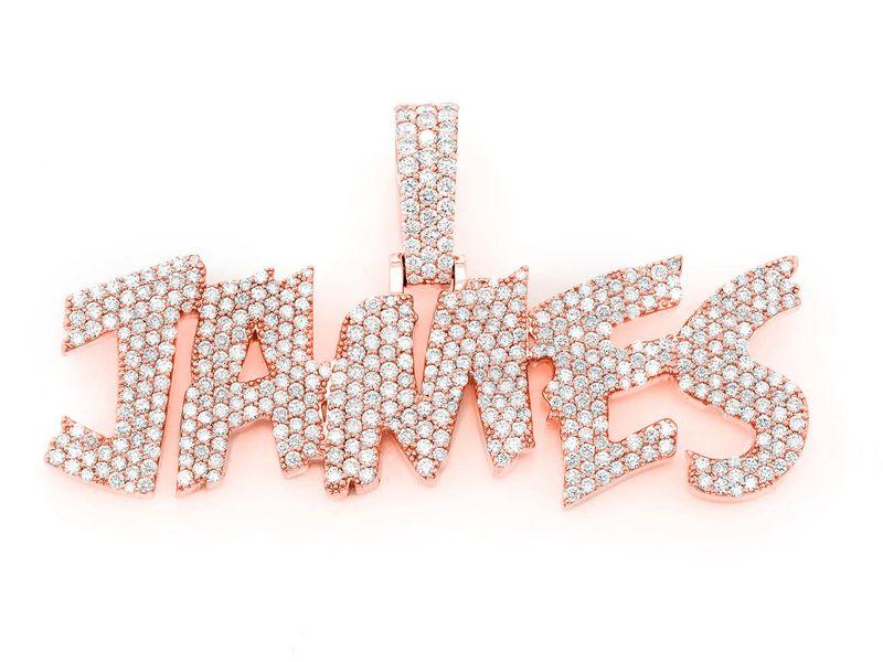 Custom James Pendant 14K   1.00ctw