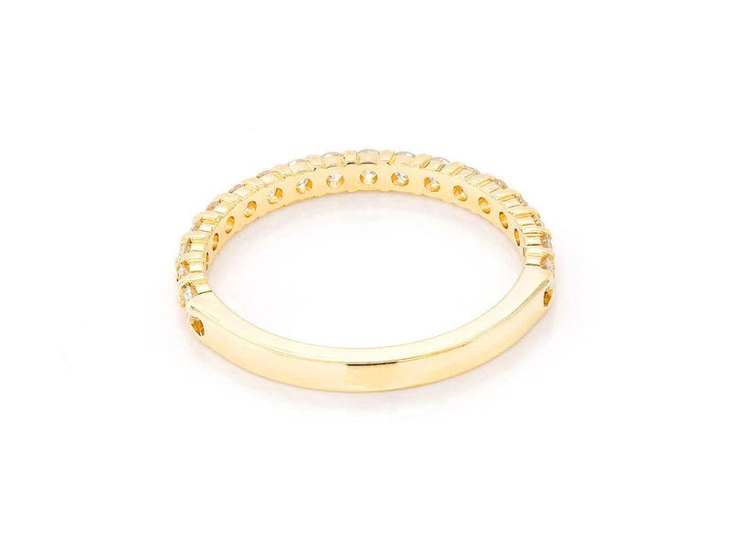 Single Row Ring 18K   0.55ctw
