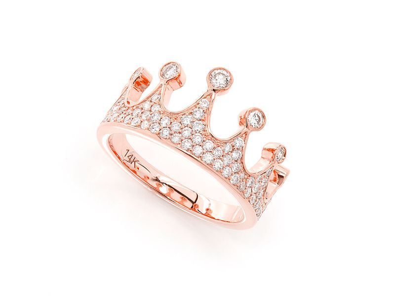 Crown Ring 14K   0.90ctw
