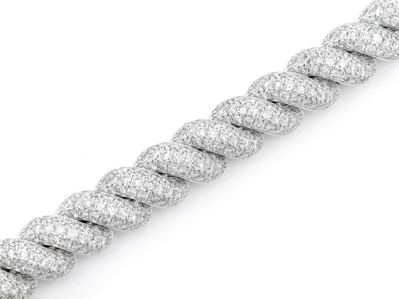 Diamond Twisted Bracelet 14K   11.75ctw