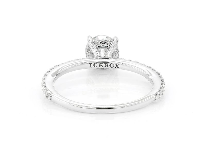 Round Under Halo Engagement Ring 18K   1.15ctw