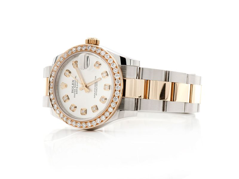 Pre-owned Rolex Datejust 31mm 18K/SS  1.12ctw