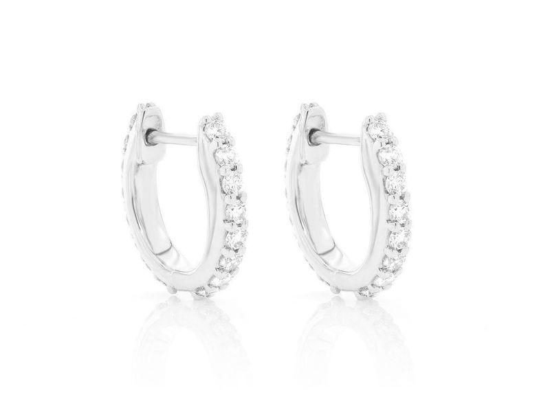 Huggie Hoop Earrings 14K   0.36ctw