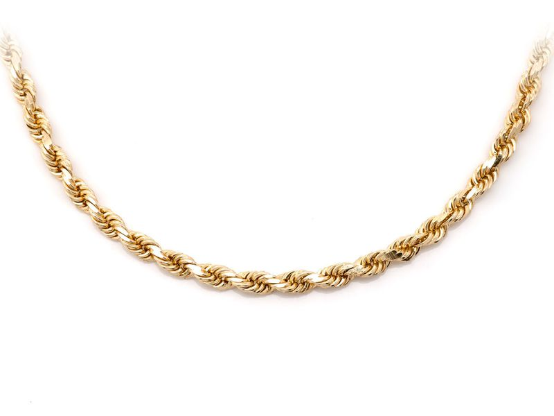 3mm Rope 14K   Chain