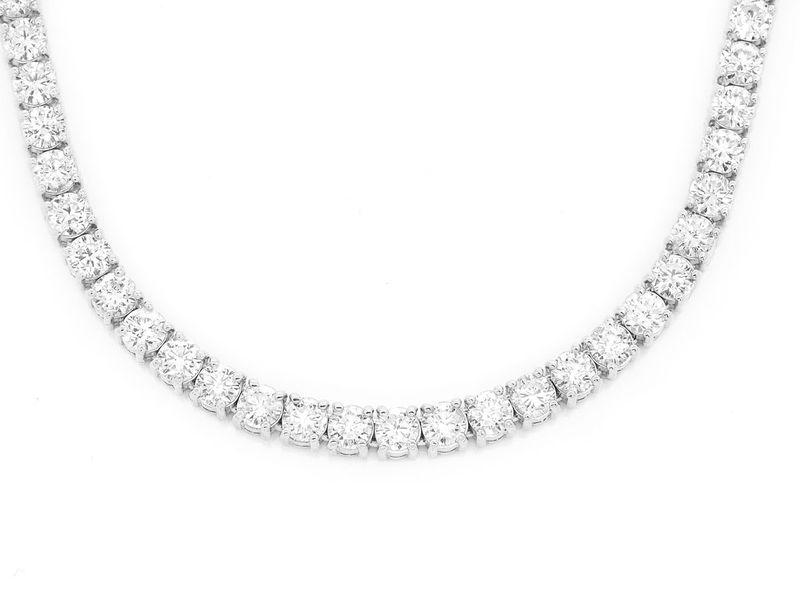 Diamond 30pt Tennis Chain 30Ptr Necklace 14K  36.71ctw