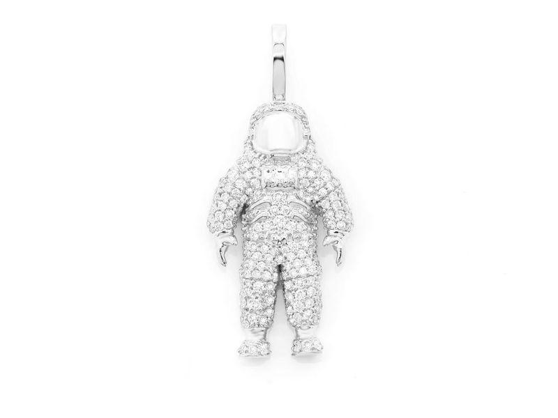 Space Astronaut  Pendant 14K   0.98ctw