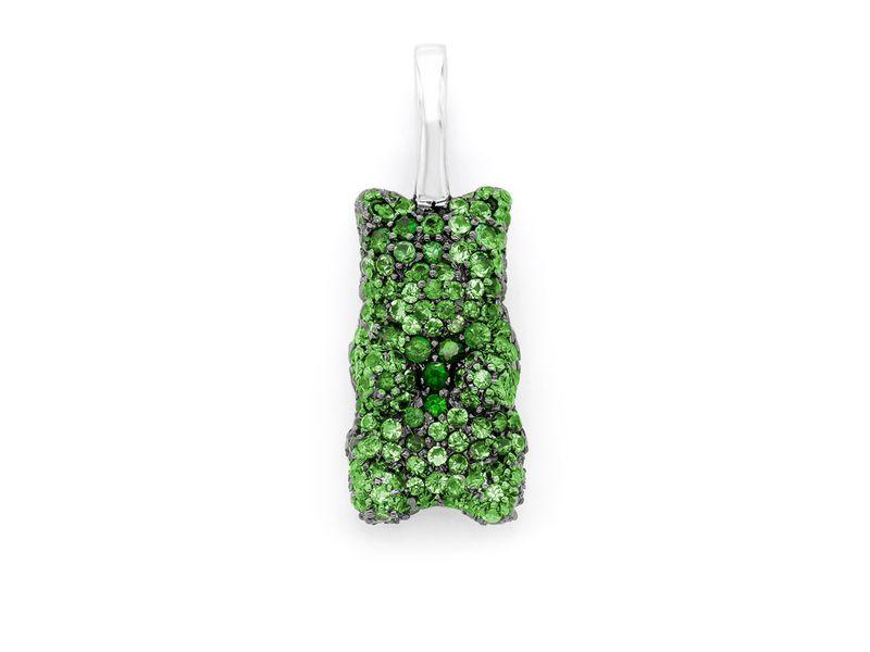 Green Gummy Bear Pendant 14K   0.66ctw