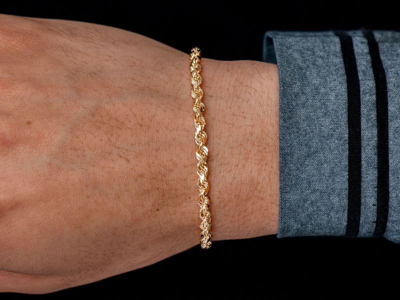 4mm Rope 14K   Bracelet