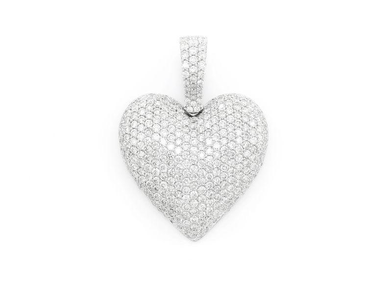 Heart Pendant 14K   1.51ctw