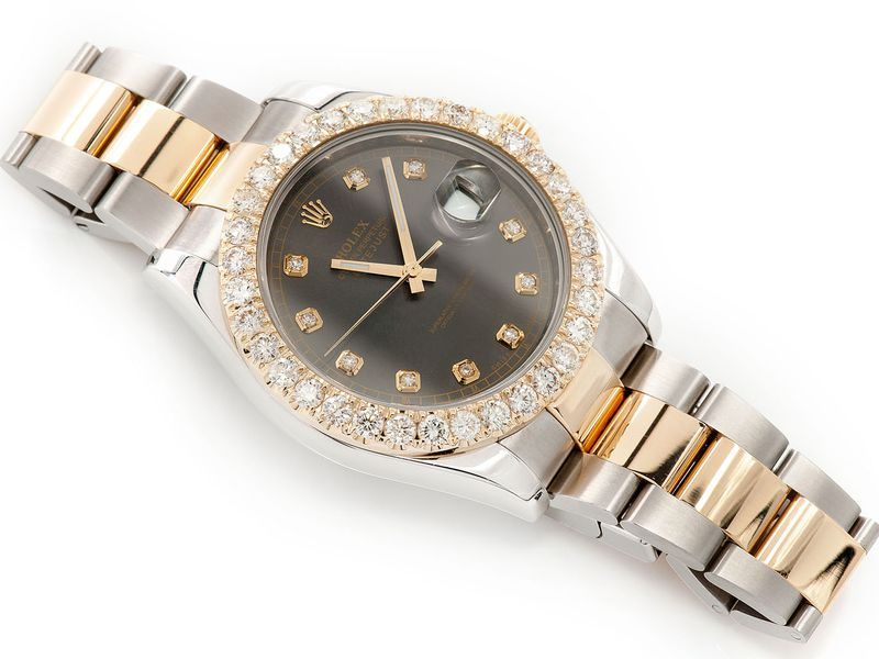 Pre-owned Rolex Datejust 2 41MM 18K/SS  4.30ctw