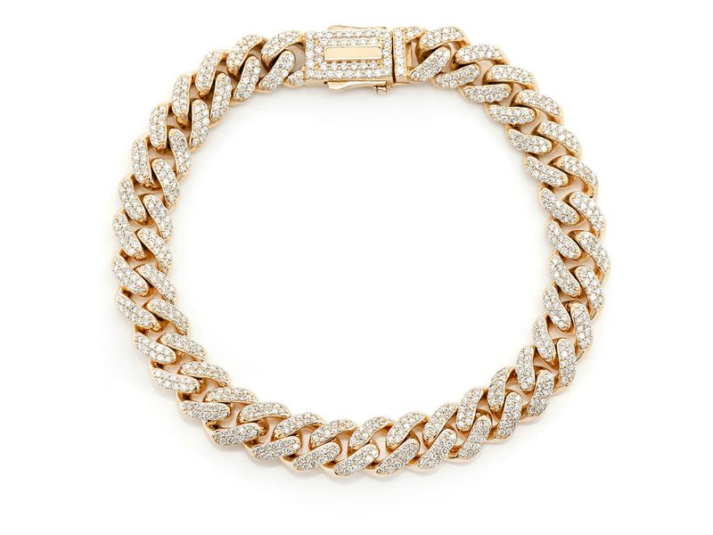 8mm Miami Cuban Bracelet 14K   4.17ctw