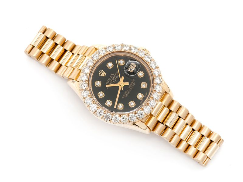 Pre-owned Rolex Presidential 26MM 18K  2.06ctw