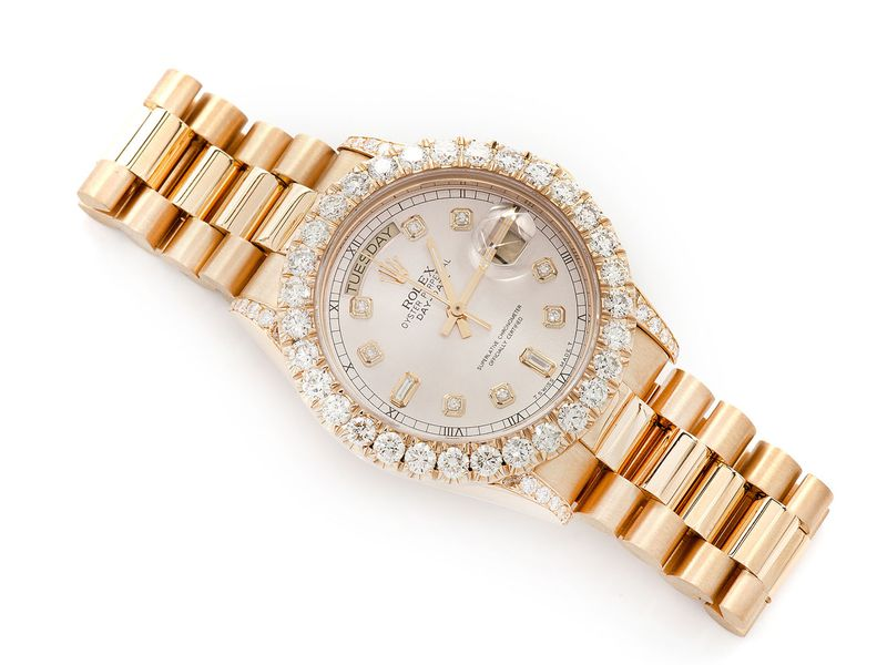 Pre-owned Rolex Day-Date 36MM 18K  5.04ctw