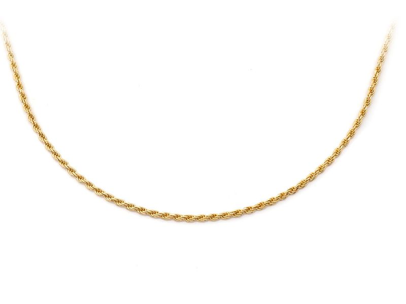 1mm Rope 14K   Chain