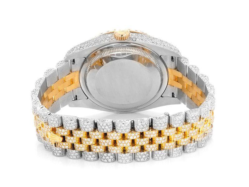 Rolex DateJust 12.84ctw 18K/SS