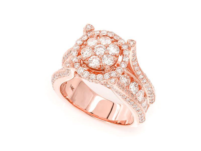 Moss Pinkie Ring 14K   3.35ctw