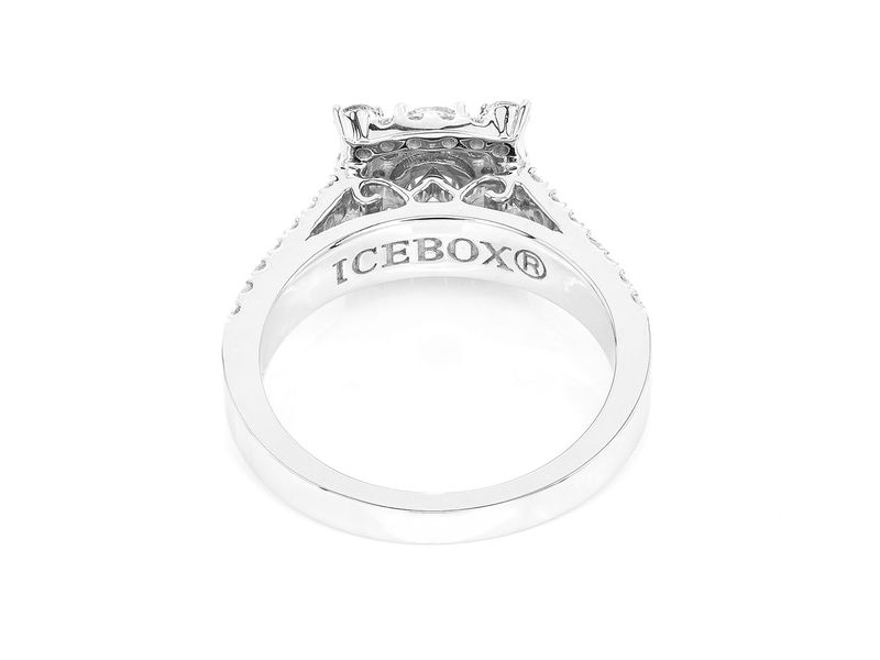 Unique Square Ring 14K   1.01ctw