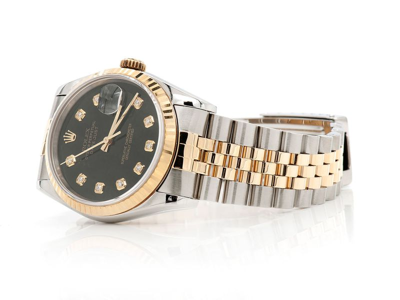Pre-owned Rolex Datejust 36MM 18KSS