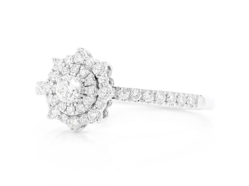 Single Band Unique Engagement Ring 14K   0.47ctw