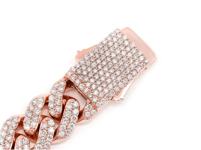 Diamond Cuban Bracelet 14K   9.00ctw