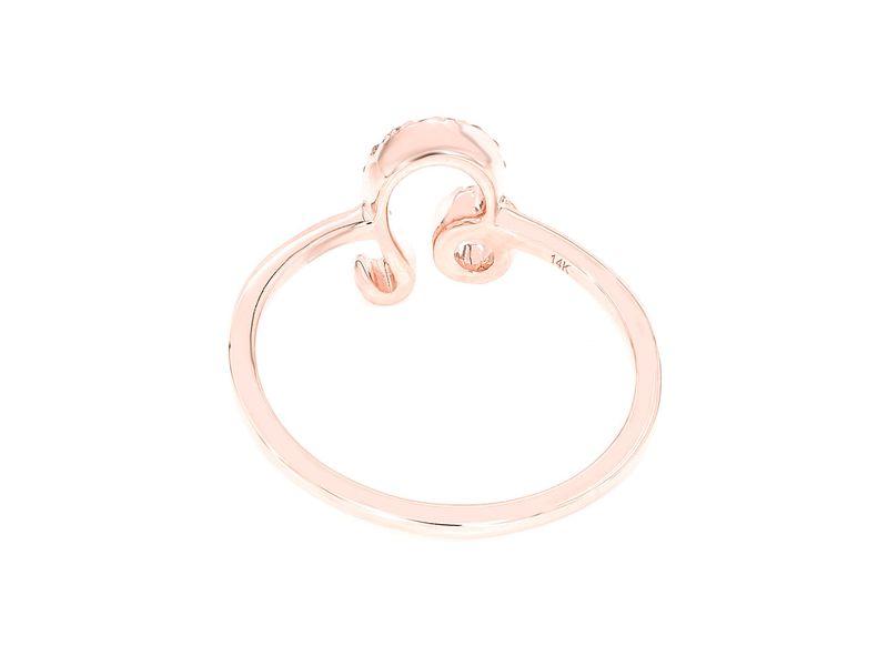 Leo Zodiac Ring 14K   0.22ctw