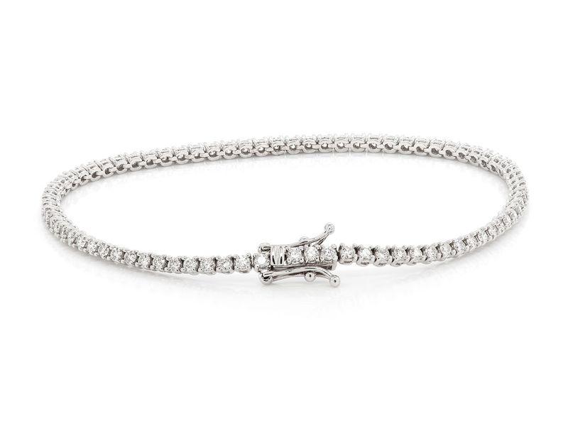 Diamond Bracelet 14K   1.95ctw