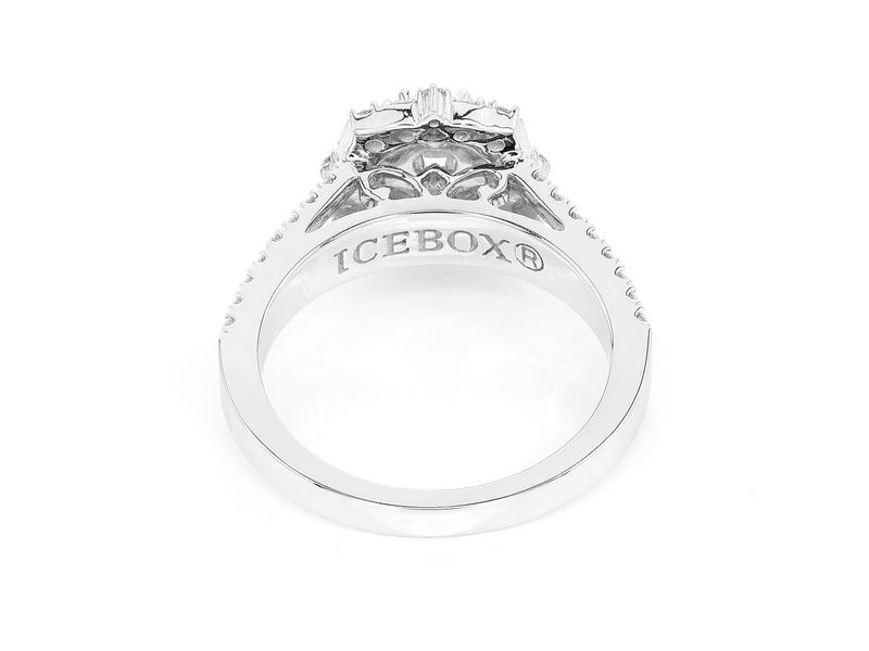 Unique Halo Ring 14K   0.96ctw